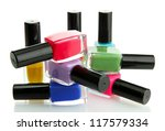 group of bright nail polishes... | Shutterstock . vector #117579334