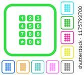 numeric keypad vivid colored... | Shutterstock .eps vector #1175793700