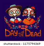 day of the dead poster vector... | Shutterstock .eps vector #1175794369
