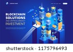cryptocurrency and blockchain... | Shutterstock .eps vector #1175796493