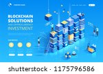 cryptocurrency and blockchain...   Shutterstock .eps vector #1175796586