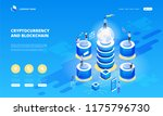 cryptocurrency and blockchain... | Shutterstock .eps vector #1175796730