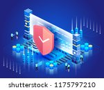 data security. network... | Shutterstock .eps vector #1175797210
