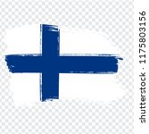 flag finland  brush stroke...