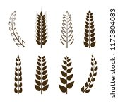 vector set of wheat icons ... | Shutterstock .eps vector #1175804083