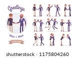 male friends greeting set. men... | Shutterstock .eps vector #1175804260
