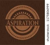 aspiration vintage wood emblem | Shutterstock .eps vector #1175806999