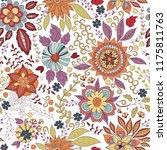 vector flower pattern. colorful ... | Shutterstock .eps vector #1175811763