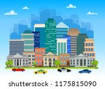 urban landscapes with buildings ...   Shutterstock .eps vector #1175815090