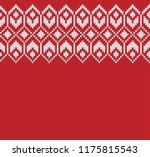 wool sweater design. fairisle... | Shutterstock .eps vector #1175815543