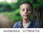 photo of adorable young boy | Shutterstock . vector #1175816716