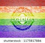 nostalgia emblem on mosaic... | Shutterstock .eps vector #1175817886
