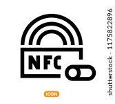 nfc technology vector icon.... | Shutterstock .eps vector #1175822896