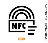 nfc technology vector icon.... | Shutterstock .eps vector #1175822899