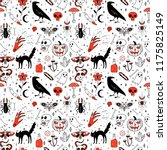 seamless pattern with magic and ... | Shutterstock .eps vector #1175825149