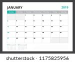 2019 calendar planner corporate ... | Shutterstock .eps vector #1175825956