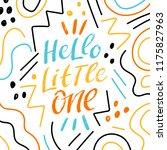 kids lettering phrase hello... | Shutterstock .eps vector #1175827963