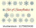 set of snowflakes  elegant... | Shutterstock .eps vector #1175835430