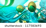 abstract computer generated... | Shutterstock . vector #117583693