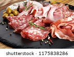 marble cutting board with... | Shutterstock . vector #1175838286