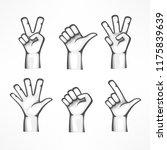 gestures of human hands... | Shutterstock .eps vector #1175839639