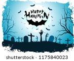 halloween background with bat.... | Shutterstock .eps vector #1175840023