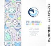 plumbing banner with logo for... | Shutterstock .eps vector #1175841013