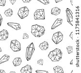 black and white seamless... | Shutterstock .eps vector #1175841316