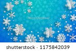 christmas illustration with... | Shutterstock .eps vector #1175842039