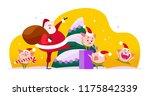 vector flat merry christmas...   Shutterstock .eps vector #1175842339
