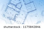 architectural plan   abstract... | Shutterstock . vector #1175842846