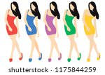 girl in different dresses. the...   Shutterstock .eps vector #1175844259