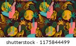 vestor seamless pattern with... | Shutterstock .eps vector #1175844499
