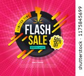 flash sale banner template... | Shutterstock .eps vector #1175845699