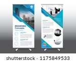rollup template vector... | Shutterstock .eps vector #1175849533