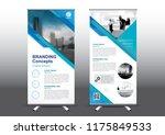 rollup template vector... | Shutterstock .eps vector #1175849533