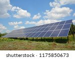 solar panels with beautiful... | Shutterstock . vector #1175850673
