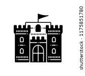 vector icon for castle with... | Shutterstock .eps vector #1175851780