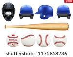 big set of baseball equipment.... | Shutterstock .eps vector #1175858236
