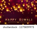 diwali festival greating card... | Shutterstock .eps vector #1175859973