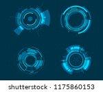 vector icon set technology... | Shutterstock .eps vector #1175860153