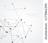 abstract connecting dots and... | Shutterstock .eps vector #1175861290