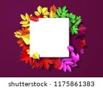 autumn paper background ... | Shutterstock .eps vector #1175861383