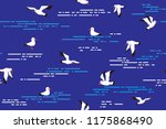 vector seamless pattern with... | Shutterstock .eps vector #1175868490