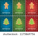 greeting card with happy new...   Shutterstock .eps vector #1175869756