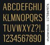 glittering letters. narrow sans ...   Shutterstock .eps vector #1175869876