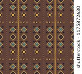 geometric embroidery style.... | Shutterstock .eps vector #1175872630