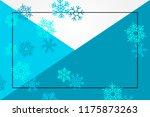 winter sale blue background... | Shutterstock .eps vector #1175873263