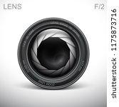 set camera lens object glass... | Shutterstock .eps vector #1175873716