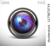 set camera lens object glass... | Shutterstock .eps vector #1175873719